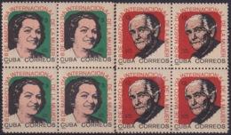 1965.142 CUBA 1965. Ed.1171-72. MNH DIA INTERNACIONAL DE LA MUJER. WOMAN DAY. BLOCK 4. - Cuba