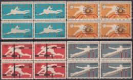 1965.145 CUBA 1965. Ed.1210-13. JUEGOS DEPORTIVOS NACIONALES, SPORT GAMES, LIGERAS MANCHAS BLOCK 4. - Cuba