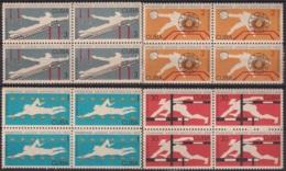 1965.147 CUBA 1965. Ed.1210-13. JUEGOS DEPORTIVOS NACIONALES, SPORT GAMES, LIGERAS MANCHAS BLOCK 4. - Cuba