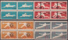 1965.148 CUBA 1965. Ed.1210-13. JUEGOS DEPORTIVOS NACIONALES, SPORT GAMES, LIGERAS MANCHAS BLOCK 4. - Cuba