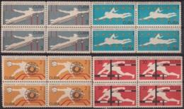 1965.149 CUBA 1965. Ed.1210-13. JUEGOS DEPORTIVOS NACIONALES, SPORT GAMES, LIGERAS MANCHAS BLOCK 4. - Cuba