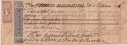 E6370 CUBA SPAIN 1869 LETTER BANK CHECK M. RIQUELME & Co. - Cheques & Traveler's Cheques