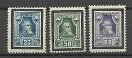 LITAUEN Lithuania 1927 Michel 275 - 277 * - Litauen