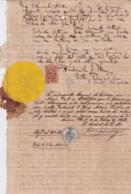 E6371 US 1868 PUBLIC NOTARY REGISTERED REVENUE IN SPAIN CONSULATE IN NEW YORK. - Manuscripts