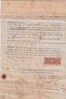 E6372 US 1869 PUBLIC NOTARY REGISTERED REVENUE IN SPAIN CONSULATE IN NEW YORK. - Manuscripts