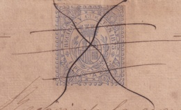 E6374 CUBA SPAIN 1875 REVENUE RECIBOS Y CUENTAS. PAGO POR BANDA DE MUSICA COMEDIA LA GATA BLANCA, MUSIC, THEATER. - Manuscripts