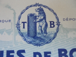 L'OURS - BOURBOURG, NORD, 1955 - TREFELERIES DE BOURBOURG - ILLUSTREE - Frankrijk