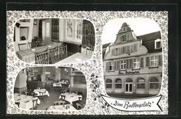 AK Darmstadt, Restaurant Zum Ballonplatz, Alexanderstrasse 29, Innen- Und Aussenansichten - Darmstadt