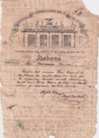 E6369 CUBA SPAIN 1855 ENGRAVING INVOICE PHARMACY GRUG STORE AENLLE. - Manuscripts