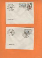 FDC 1er Jour. Sports Nautiques. Chasse Sous-marine  1962 Nouvelle-Calédonie. Voilier Pirogue, Sagaie Pecheur - Briefe U. Dokumente