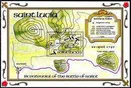St Lucia 1995 Battle Of Rabot Souvenir Sheet Unmounted Mint. - St.Lucia (1979-...)