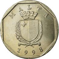 Monnaie, Malte, 50 Cents, 1998, SUP, Copper-nickel, KM:98 - Malta