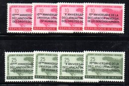 ETP401 - HAITI 1958 ,  Serie N. 402/409  ***  MNH . Dichiarazione Uomo - Haiti