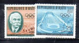APR603 - HAITI 1960 , Yvert Serie N. 451/452  ***  MNH . Olimpiadi Roma - Haiti