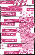 Sucre - 19 Sticks De Sucre Vides -  Darna Rose Avec Inscription DARNA (Voir 2 Scans) - Suiker