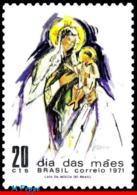 Ref. BR-1187 BRAZIL 1971 MOTHER�S DAY, MADONNA AND CHILD,, MI# 1281, MNH 1V Sc# 1187 - Brasilien
