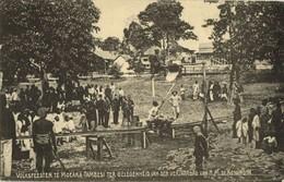 Indonesia, SUMATRA, MUARA TEMBESI, Queen's Day Feast Dutch KNIL (1910s) Postcard - Indonesië