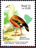 Ref. BR-2315 BRAZIL 1991 BIRDS, UN CONFERENCE ON, DEVELOPMENT, DUCK, MI# 2414, MNH 1V Sc# 2315 - Brazilië