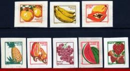 Ref. BR-2631-36G BRAZIL 1997 FRUITS, FRUITS AND NUTS,, MI# 2752-57 2770-71, SET DEFINITIVE MNH 8V Sc# 2631-2636G - Brésil