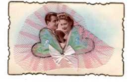 CPA FANTAISIE COUPLE  Carte à Système  Photo Et Dentele  Fantaisies -Aout 2019 73 - Couples