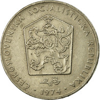 Monnaie, Tchécoslovaquie, 2 Koruny, 1974, TB+, Copper-nickel, KM:75 - Tchécoslovaquie