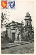 """CPSM FRANCE 13 """"Fontvieille, L'Eglise"""" - Autres Communes"""