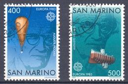 San Marino MiNr. 1278/79 O Europa: Große Werke Des Menschlichen Geistes - San Marino