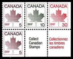 Canada (Scott No. 945a - Feuille D'érable / Maple Leaf) [**] Carnet / Booklet - Carnets