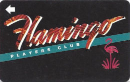 Flamingo Casino Las Vegas, NV - BLANK Slot Card - With Insert Arrow - Web Address On Reverse - Casino Cards
