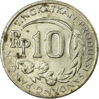Monnaie, Indonésie, 10 Rupiah, 1971, TB+, Copper-nickel, KM:33 - Indonésie