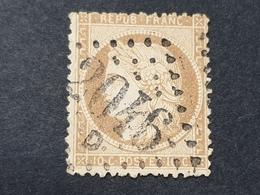 Siège De Paris N° 36a (Variété, Filet Du Bas Et De Gauche Brisé) Avec Oblitération Losange 2046   TB - 1870 Beleg Van Parijs