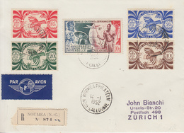 Enveloppe   Recommandée    NOUVELLE  CALEDONIE      NOUMEA   PHILATELIE   1952 - Nueva Caledonia