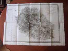 Bourbon Réunion : Très Grande Carte De 1804 Par Bory De Saint Vincent. Etat Exceptionnel - Carte Geographique
