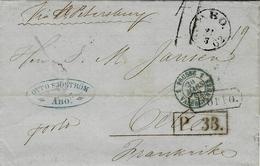 "Letter From ABO To Cette ( France ) Porto + "" Via St Petersburg""  + P.33  + Taxe 11 - 1856-1917 Amministrazione Russa"