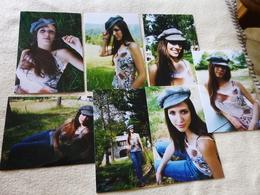 LOT DE 7 REPRODUCTIONS PHOTOS ...BELLE JEUNE FEMME - Personnes