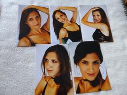 LOT DE 5 REPRODUCTIONS PHOTOS ...BELLE FEMME - Personnes