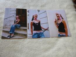 LOT DE 3 REPRODUCTIONS PHOTOS ...BELLE FEMME.. - Personnes