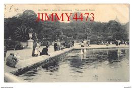 CPA - Jardin Du Luxembourg Vue Autour Du Bassin Bien Animé En 1907 - PARIS 6ème Arr. 75 Seine - N°661 - Edit. P. Marmuse - Parks, Gärten