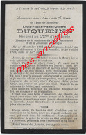Guerre 1914-mort En 1916 Pour La France-Hondeghem (59) Et Estrées (Somme) Louis DUQUENNE 273e R D'infanterie - Décès
