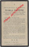 Guerre 1914-mort En 1915 Pour La France-Borre (59) Et Epernay (Marne) Germain OUDOIRE 162e R Infanterie 23 Ans - Décès
