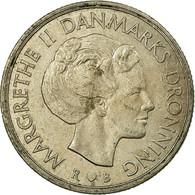 Monnaie, Danemark, Margrethe II, Krone, 1983, Copenhagen, TB+, Copper-nickel - Danemark