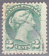 CANADA   SCOTT NO. 36     USED       YEAR  1870   PERF  12 - 1851-1902 Règne De Victoria