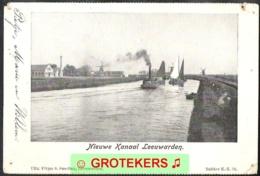 LEEUWARDEN Nieuw Kanaal Ca 1900   Stoomboot 3 Molens - Leeuwarden