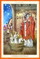 CP SAINT NICOLAS Illustrateur Enfants St Nicolas Patron Des Lorrains Carte Vierge TBE - Saint-Nicolas