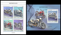 SIERRA LEONE 2019 - Motorcycles. M/S + S/S Official Issue [SL190701] - Motorbikes