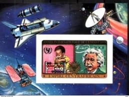 Central African Republic, 1979. Albert Einstein.  INTERNATIONAL YEAR OF THE CHILD. Space. Imperforated.  MNH - Albert Einstein