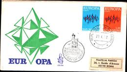 13218a)F.D.C.SAN Marino Europa - 27 Aprile 1972 - FDC