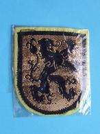 LEEUW / Lion : BADGE 6,5 X 5,5 Cm. () Zie / Voir / See Photo ! - Ecussons Tissu