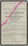 En 1920 Bailleul (59) Et Saint Omer (62) Elise RYCKEBUSCH 44 Ans - Décès