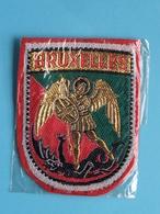 BRUXELLES : BADGE 7 X 5,5 Cm. () Zie / Voir / See Photo ! - Escudos En Tela